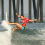 Surfer in the Supergirl Pro contest