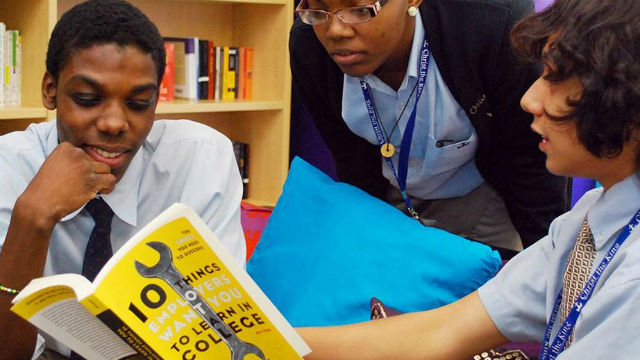 Students at a Cristo Rey High School