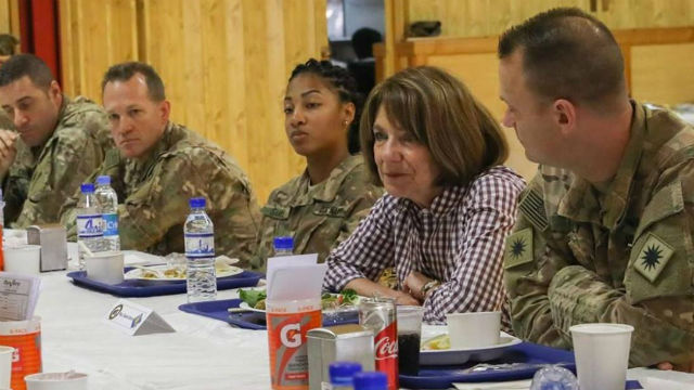 Rep. Susan Davis with military personnel