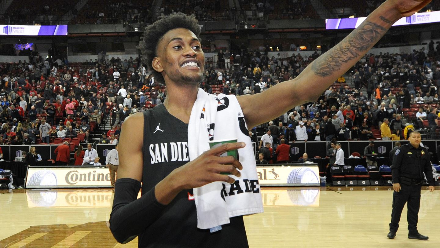 Aztec Hoops: Jalen McDaniels Forgoes 3rd Year of Eligibility, Turns Pro -  Times of San Diego