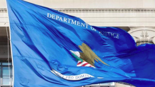 Justice Department flag in Washington