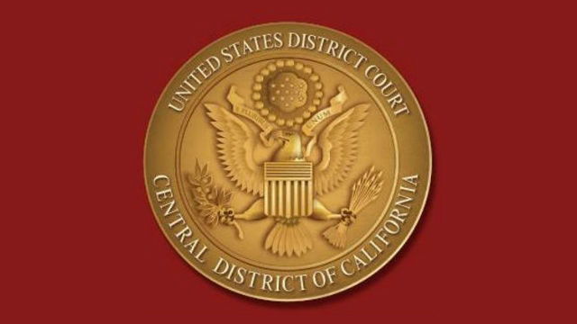 Seal of the U.S. District Court for central California.