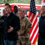 Gov. Gavin Newsom with Cal Fire officials