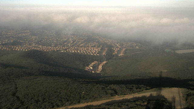 Fog rolls in over north county in advance of the low-pressure system
