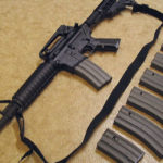 AR-15 assault rifle with magazines