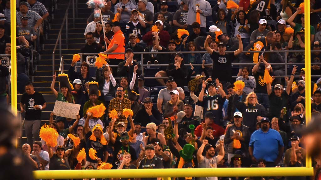 End zone Fleet fans were especially loud and energetic during Birmingham gam