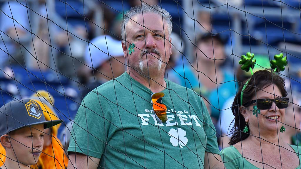 A Fleet family hoped to convey luck of the Irish on San Diego's Alliance of American Football team.