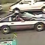 Surveillance photo of the suspect's vehicle