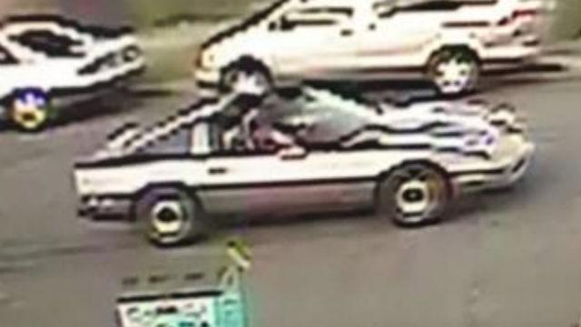 Surveillance photo of the suspect's vehicle