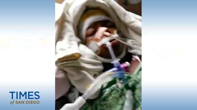 Aleah Jenkins as seen in hospital.