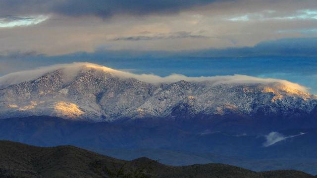 Snow on Toro Peak on Tuesday