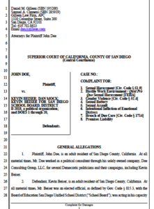 Redacted lawsuit against Kevin Beiser, Dan Mock and others. plus related filings. (PDF)