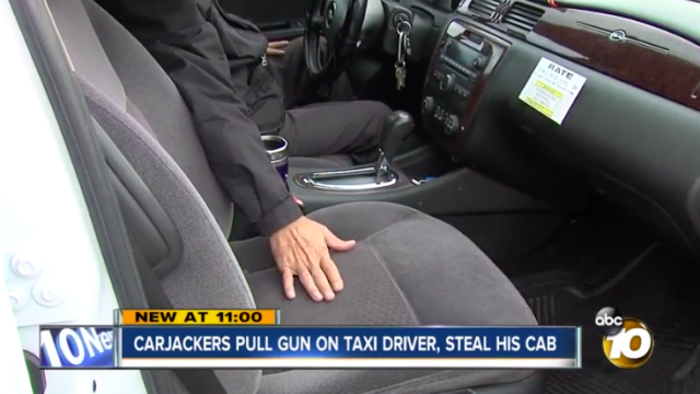 Cabbie describes carjacking outside La Mesa Denny's.