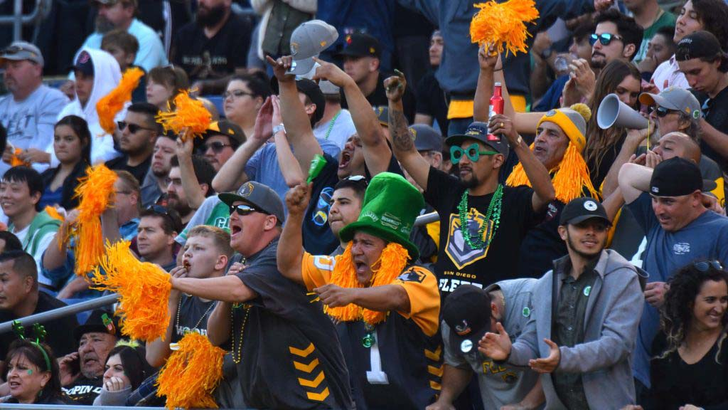 San Diego Fleet fans had plenty to cheer — up till the last seconds of game.