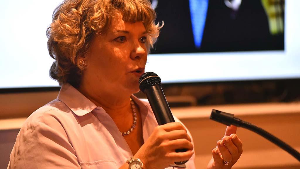 Club President Marjie Siekerka