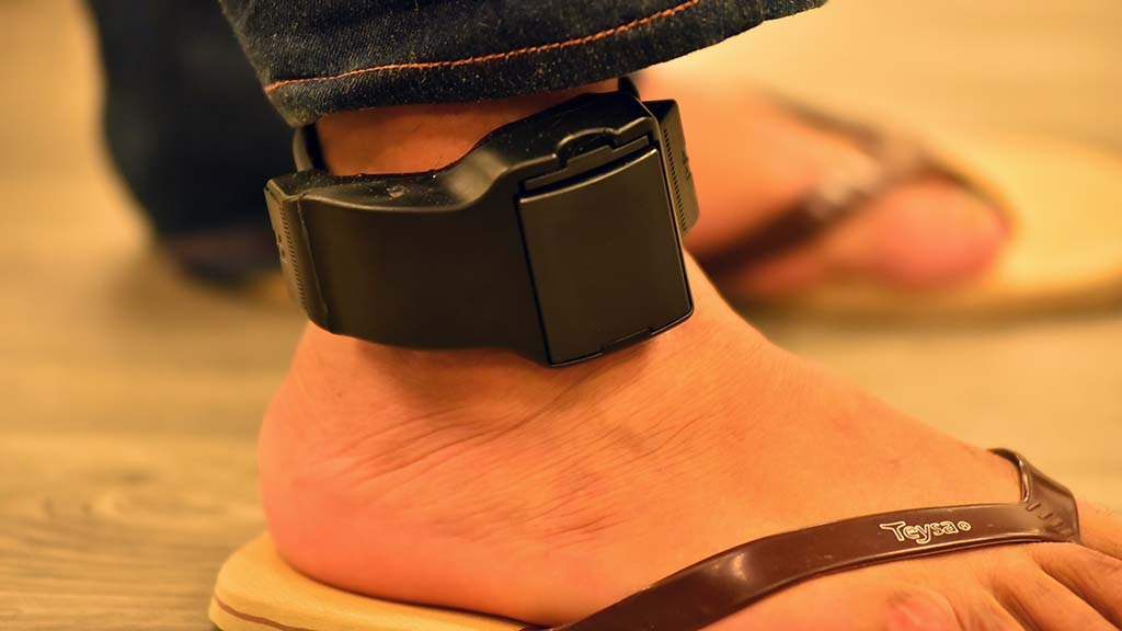 All adults are fitted with an ankle monitor, which needs to be charged up regularly.