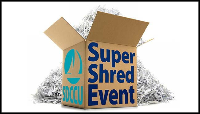 SDCCU Again Offers Free 'Super Shred Event' on Saturday at 3