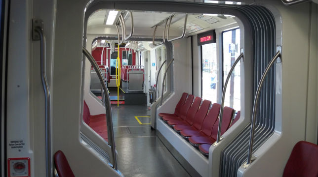 Interior of 5000-series trolley