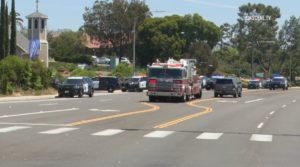 Sheriff's cruisers converge on Chabad of Poway