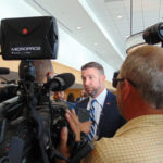 Duncan Hunter mobbed by reporters