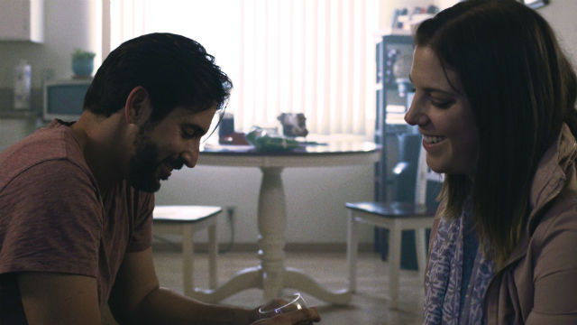 """Eric Casalini and Beth Gallagher in """"To Fall in Love"""""""