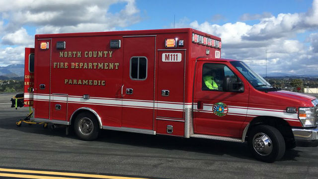 North County Fire Protection District ambulance