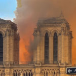 Notre Dame in flames