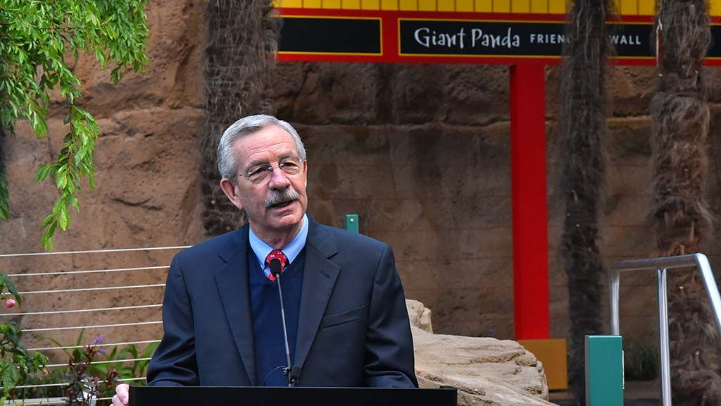 Douglas Myers, president/CEO of the San Diego Zoo Global speaks of the collaboration between the U.S. and China.