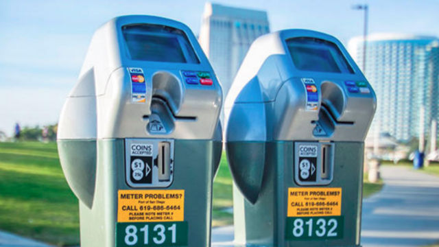 Port operated parking meters