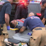 Pursuit suspect taken to ambulance