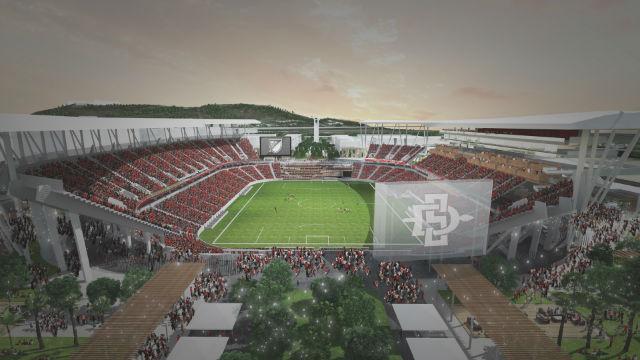 Rendering of Mission Valley stadium