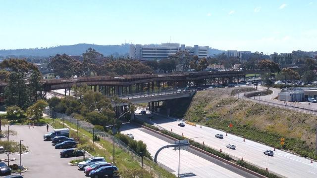 Trolley bridge on Interstate 5