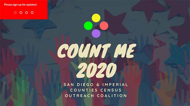 Image from homepage of County Me 2020 Coalition via countme2020.org
