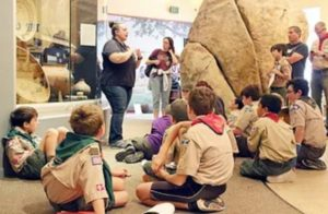 A scout troop at the Barona Museum
