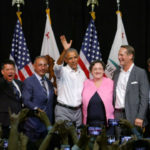 Orange County Democrats with former President Obama