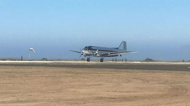 Historic DC-3 lands on Catalina Island