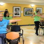Seniors exercising in San Diego