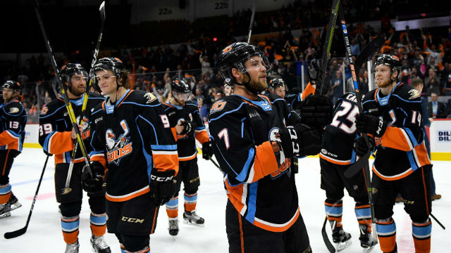San Diego Gulls players after the final game