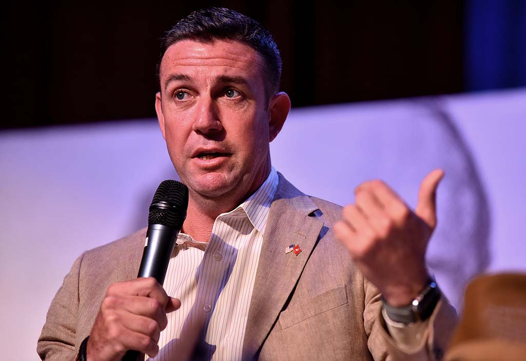 Rep. Duncan D. Hunter repeated his call for the U.S. military to build roads next to the border for better fencing security.