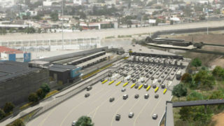 Rendering of completed Interstate 5 southbound entry to Mexido