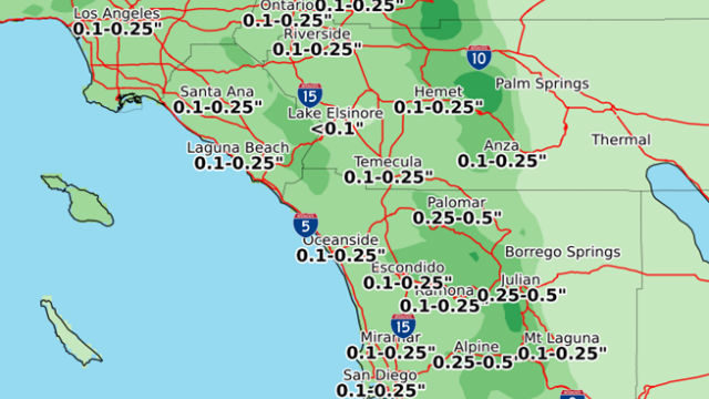 Late-season storm rainfall
