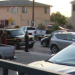 Police at the scene of the shooting in Linda Vista