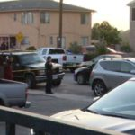 Police at the scene of the shooting in Linda Vista