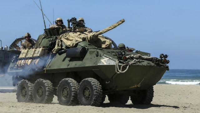 Marine LAV-25 light armored vehicle