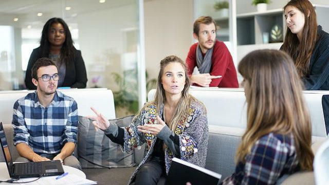 Millennial office team