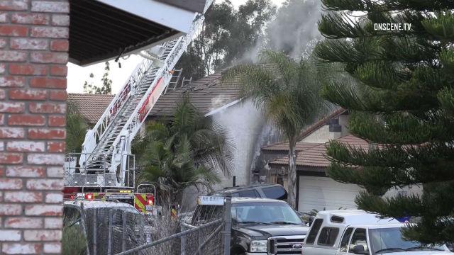 Burned home home in MIra Mesa