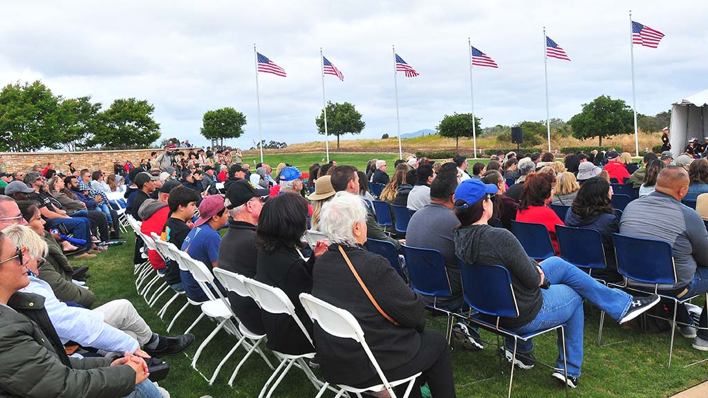 About 200 people gathered Sunday for a Memorial Day observance at Miramar National Cemetery.