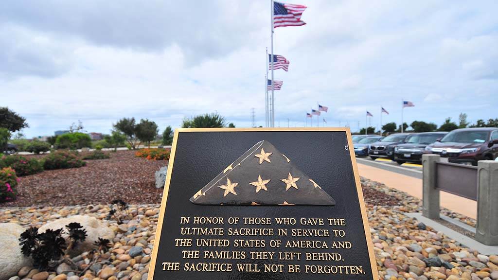 A new plaque has been added to Miramar National Cemetery.