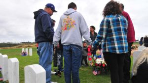 The family of Vietnam veteran Stephen M. Ronge gathered on Sunday to honor their father, who died recently.