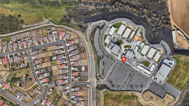 Aerial view of Mission Vista High School in Oceanside.